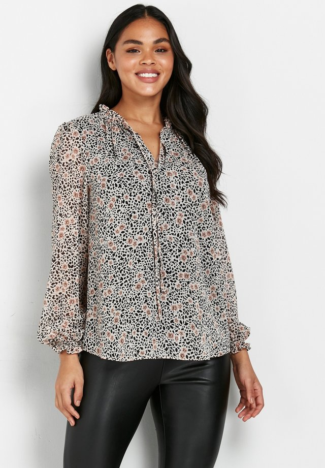 ANIMAL AND FLORAL PRINT - Bluzka - pink