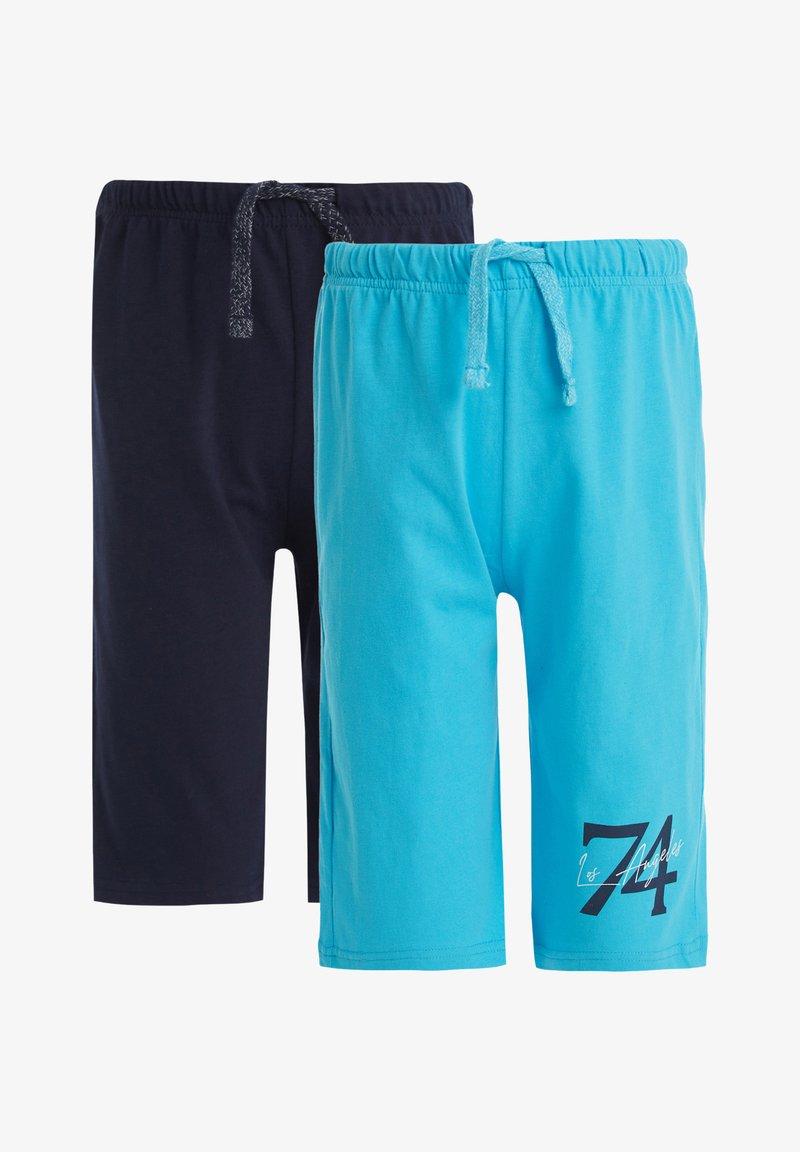 DeFacto - 2 PACK - Shorts - blue