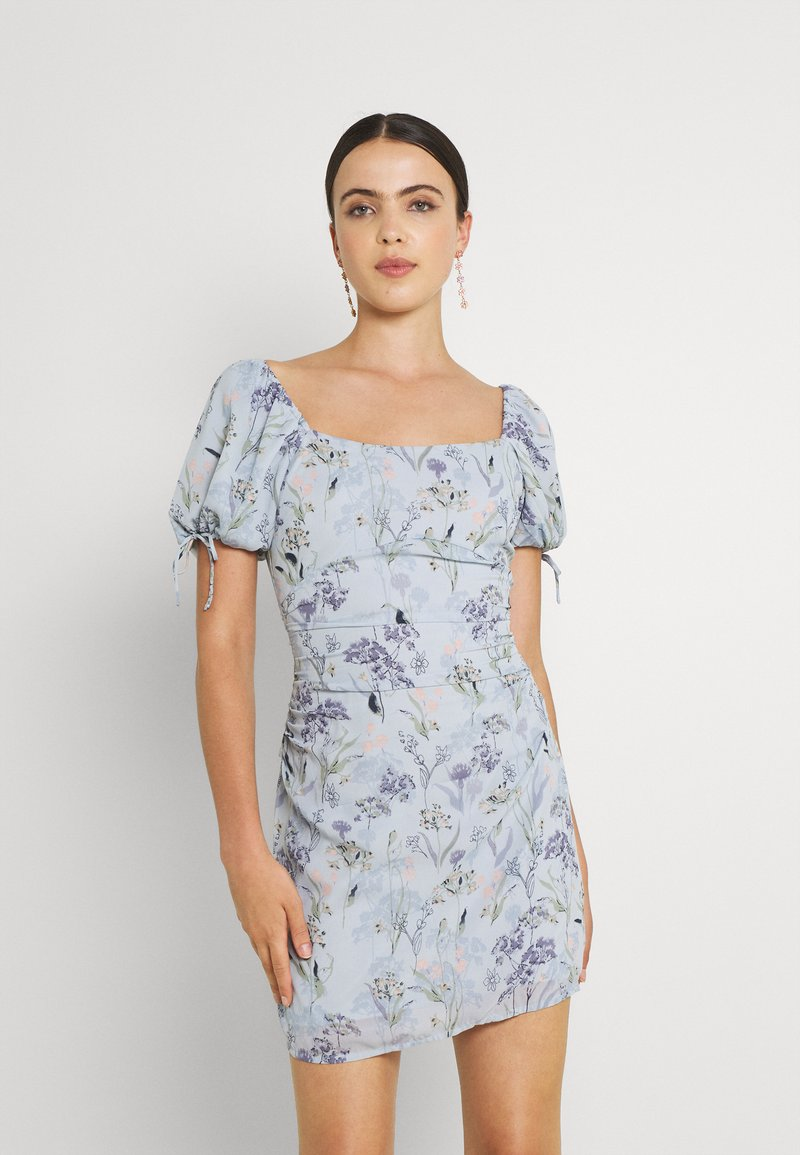 Nly by Nelly - RUCHED PUFF DRESS - Cocktailkjole - multi-coloured