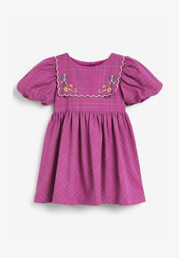 EMBROIDERED - Day dress - purple