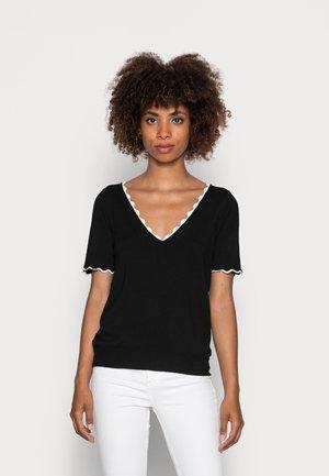KADY  - Basic T-shirt - noir/ecru