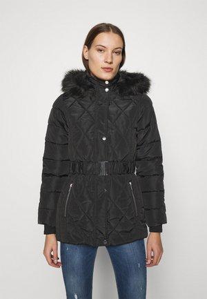 SHORT LUXE - Winter coat - black
