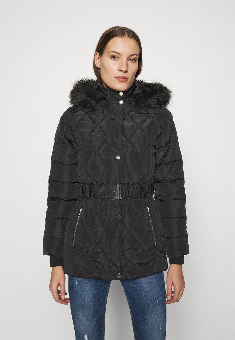 Dorothy Perkins - SHORT LUXE - Winter coat - black