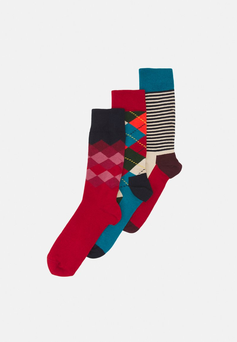 Happy Socks - CLASSICS 3 PACK UNISEX - Socks - multi reds