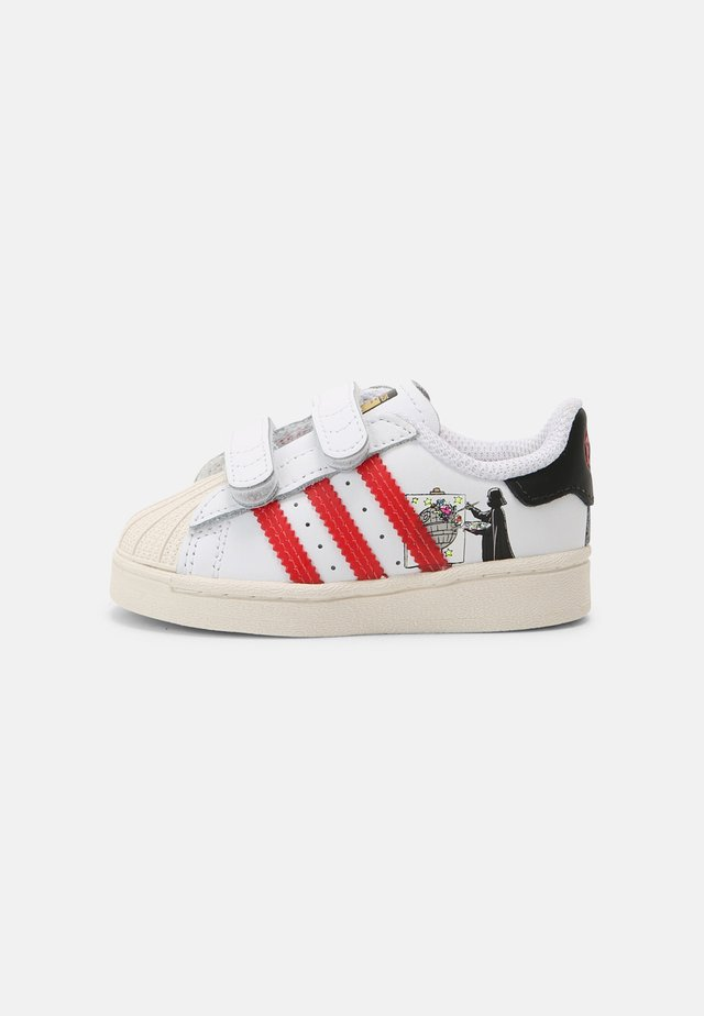 SUPERSTAR UNISEX - Trainers - white/scarlet/chalk white