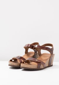 Panama Jack - JULIA CLAY - Sandalias con plataforma - dark brown - 4