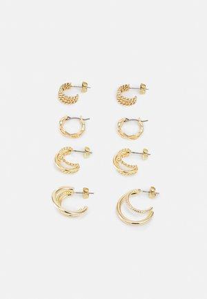 PCNURDAN EARRINGS 4 PACK - Orecchini - gold-coloured