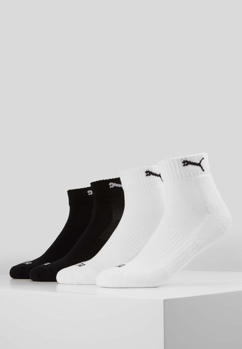 Puma - PUMA CUSHIONED QUARTER 4P UNISEX - Chaussettes de sport - black