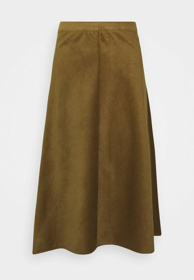 ILIA - Długa spódnica - military olive
