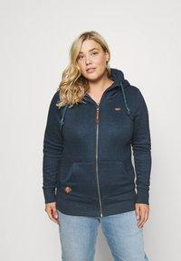 Ragwear Plus - NESKA ZIP - Zip-up sweatshirt - denim blue - 0