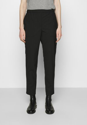 PANTS SMART MEDIUM RISE CROPPED ELASTIC IN WAISTBAND - Kapsáče - black