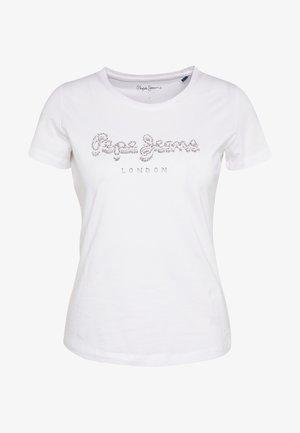 BEATRICE - Print T-shirt - optic white