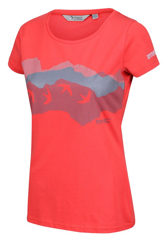 BREEZED FREIZEIT - Print T-shirt - red sky