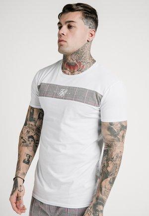 PANEL SMART TEE - T-shirt print - white