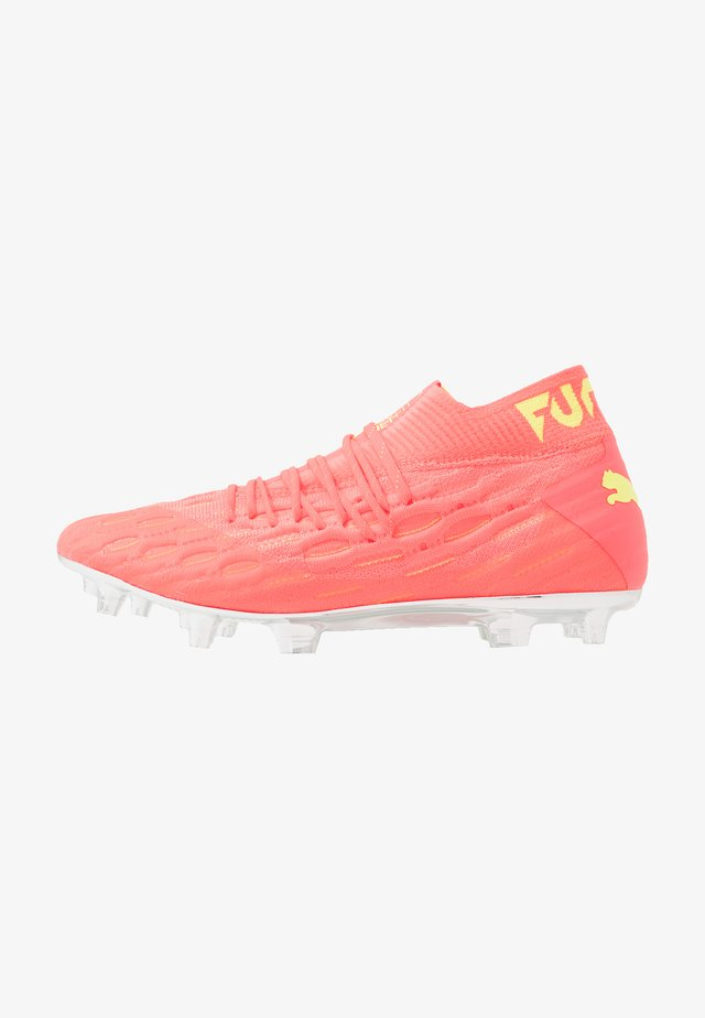 FUTURE 5.1 NETFIT OSG FG/AG - Moulded stud football boots - energy peach/fizzy yellow