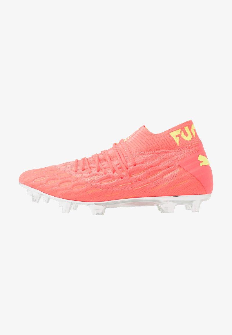 Puma - FUTURE 5.1 NETFIT OSG FG/AG - Moulded stud football boots - energy peach/fizzy yellow