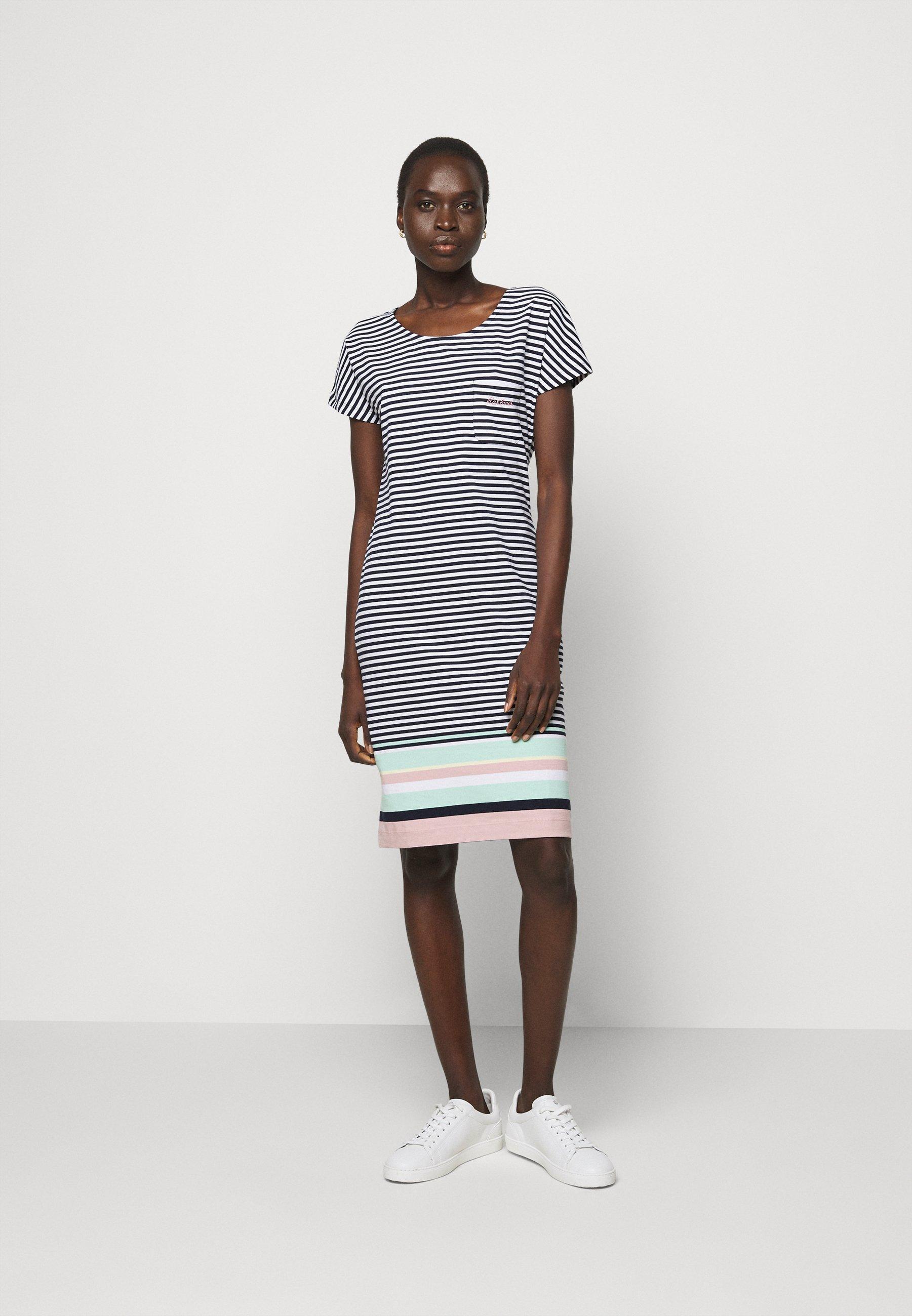 Women HAREWOOD STRIPE DRESS - Jersey dress