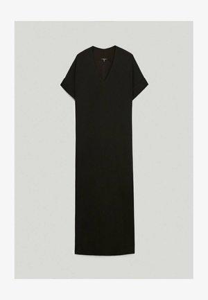 MIT SEITLICHEN SCHLITZEN - Robe longue - black