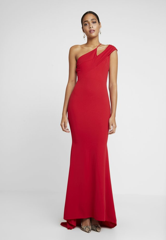 ONE SHOULDER CUT OUT MAXI DRESS - Iltapuku - red