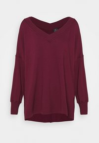 Nike Performance - YOGA COVER UP - Sweatshirt - night maroon/dark beetroot - 4