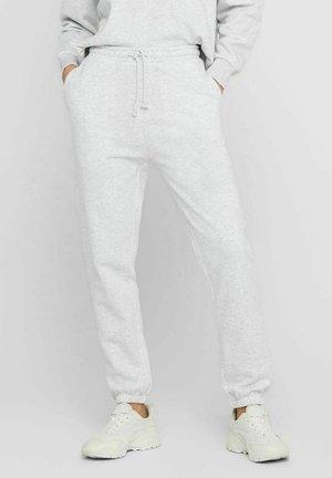 Tracksuit bottoms - white melange