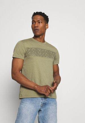 LOGO LINES - T-Shirt print - green