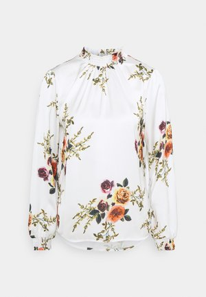 VISOFIE HIGH NECK SMOCK  - Blouse - snow white