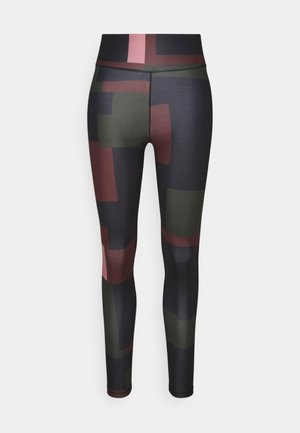 PRINTED SPORT - Tights - green/red block