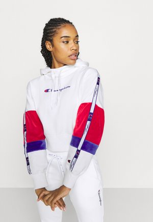 HOODED ROCHESTER - Hoodie - white/red/blue