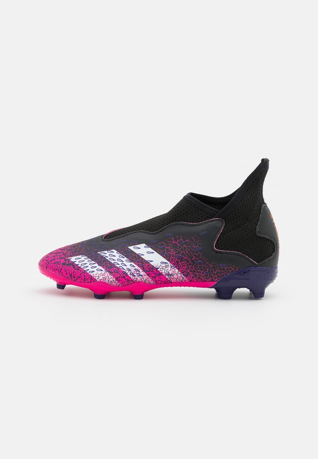 PREDATOR FREAK .3 LL FG UNISEX - Moulded stud football boots - core black/footwear white/shock pink