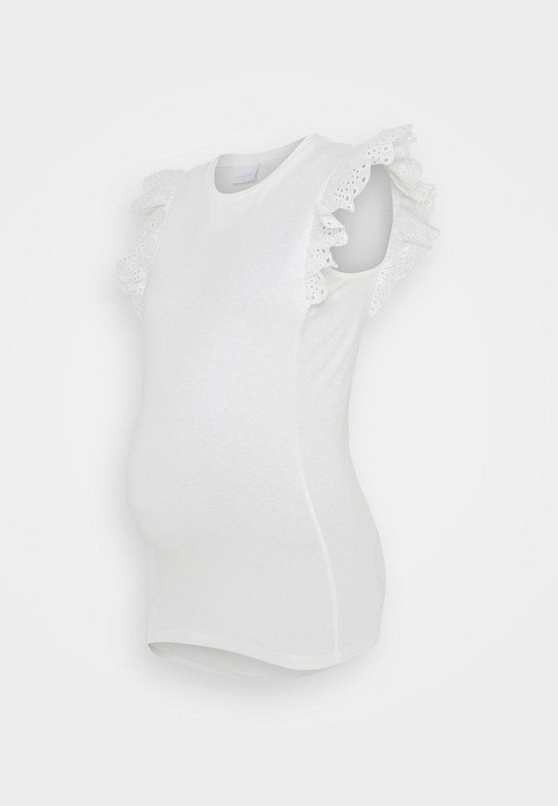 MAMALICIOUS - MLMAYA - T-shirt z nadrukiem - snow white