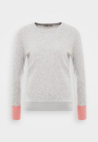 light grey/coral pink