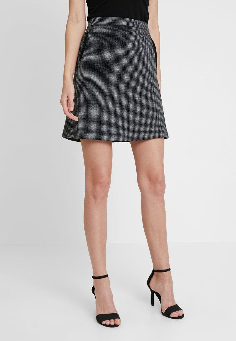 GANT - DOGTOOTH SKIRT - A-line skirt - dark grey melange