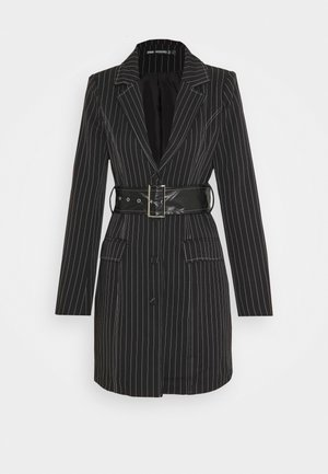 PINSTRIPE DRESS - Day dress - black