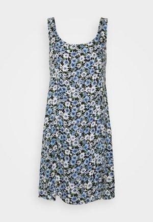 SCOOP NECK MINI - Day dress - blue