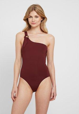 ACTIVE ONE SHOULDER MAILLOT - Swimsuit - plum