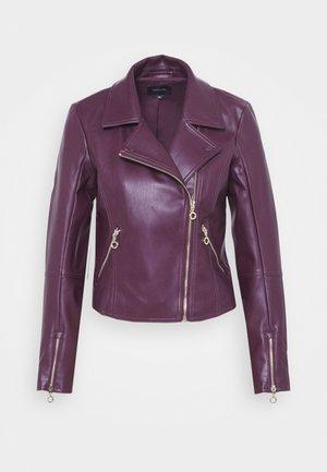 Faux leather jacket - plum
