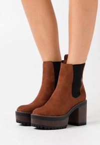 Even&Odd - High heeled ankle boots - cognac - 0