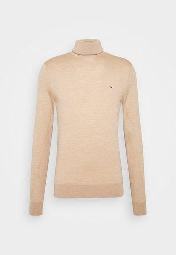 FINE GAUGE LUXURY ROLL  - Stickad tröja - pale camel heather
