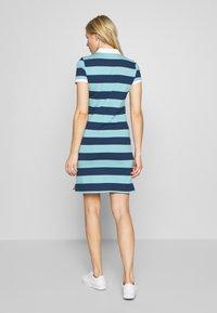 GANT - SUMMER STRIPE RUGGER DRESS - Jersey dress - aqua - 2