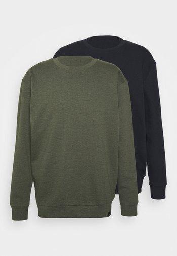 CORE 2 PACK - Sweatshirt - navy/khaki marl