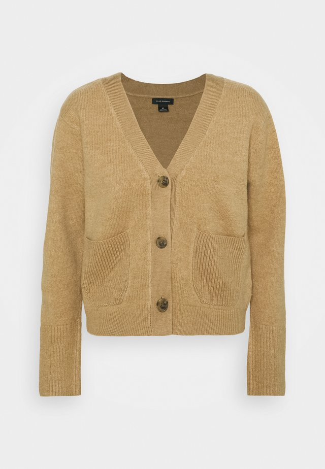 BOILED LONG SLEEVE SWEATER - Cardigan - nutmeg