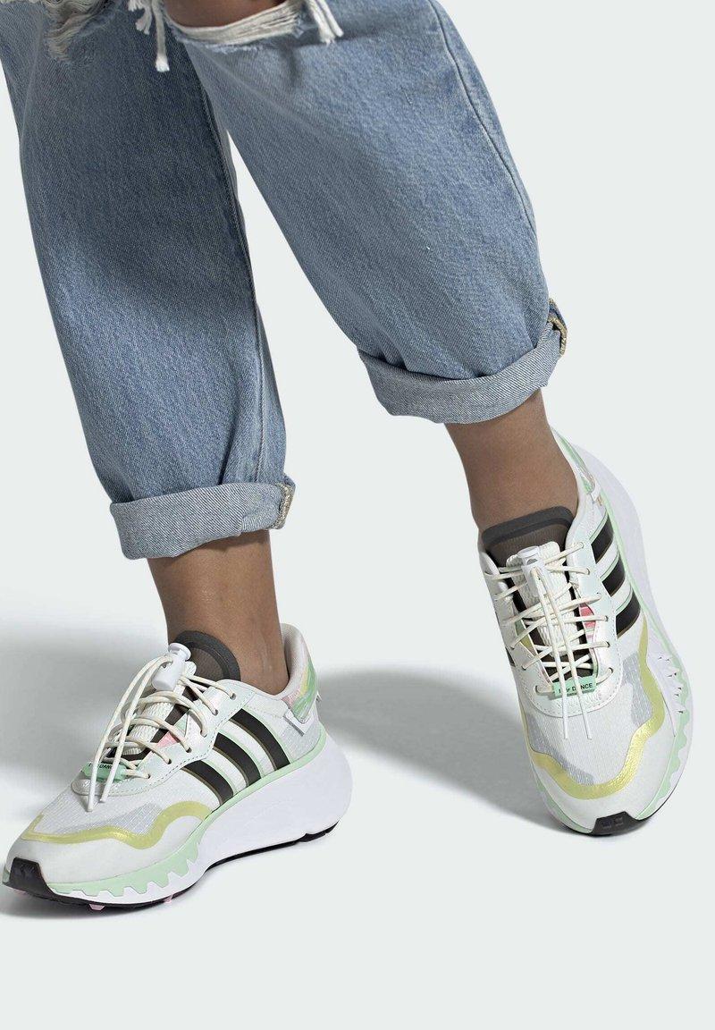 adidas Originals - CHOIGO  - Tenisky - ftwr white/core black/frozen green