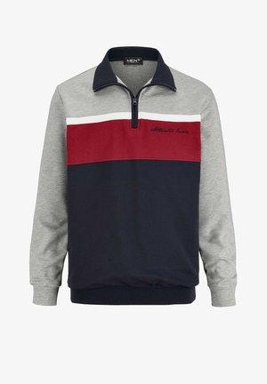 Sweatshirt - grau,rot
