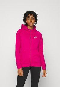 Nike Sportswear - HOODIE - Hettejakke - fireberry/white - 0