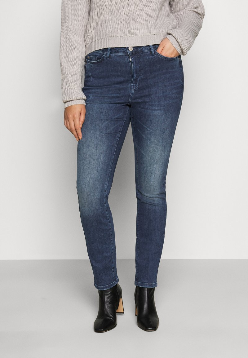 JUNAROSE - by VERO MODA - JRONEABBELINE - Slim fit jeans - dark blue denim