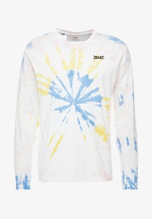 RELAXED GRAPHIC TEE - Long sleeved top - white tie dye