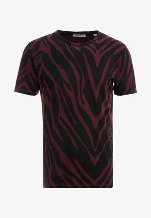 JPRSAVANNAH TEE CREW NECK - Camiseta estampada - port royale/black
