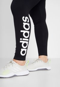adidas Performance - ESSENTIALS TRAINING SPORTS LEGGINGS - Tights - black/white - 4