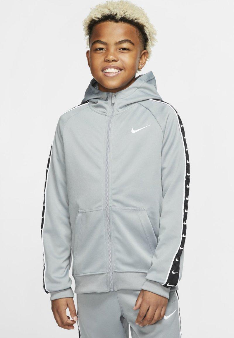 Nike Sportswear - HOODY TAPE - Sweater met rits - particle grey